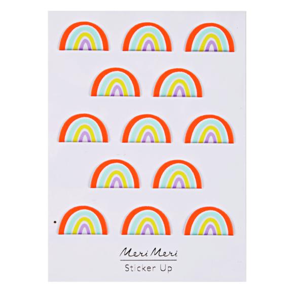 planche de Stickers Arc-en-ciel en relief 95 x 113mm