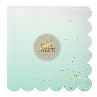 MERI MERI - Paquet de 16 serviettes en papier ombre 16,5x16,5cm