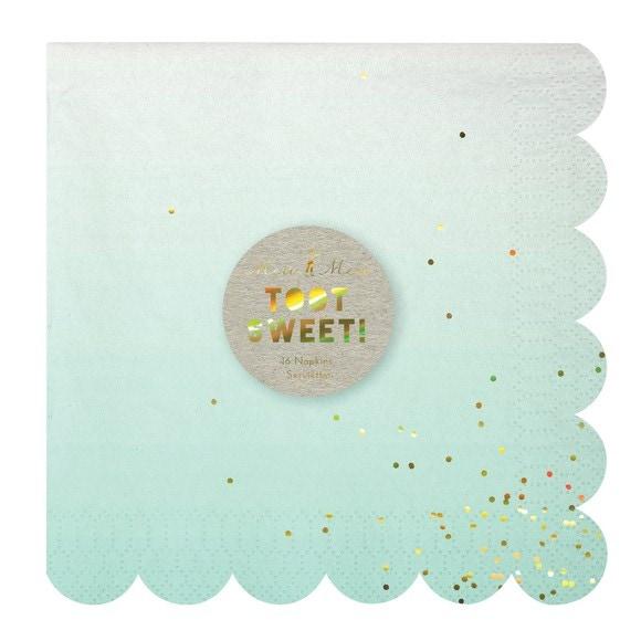 Paquet de 16 serviettes en papier ombre 16,5x16,5cm