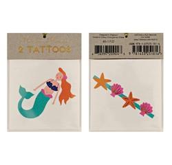 Achat en ligne 2 planches de tatouages Plage 70x90mm