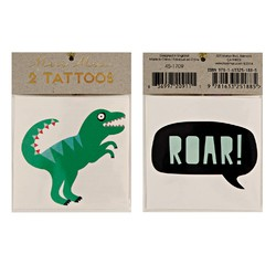 Achat en ligne 2 planches de tatouages Dinosaures  70x90mm
