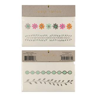 MERI MERI - 2 planches de tatouages Laurier 115x90mm
