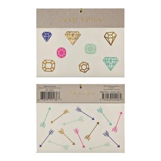 MERI MERI - 2 planches de tatouages Bijoux 115x90mm