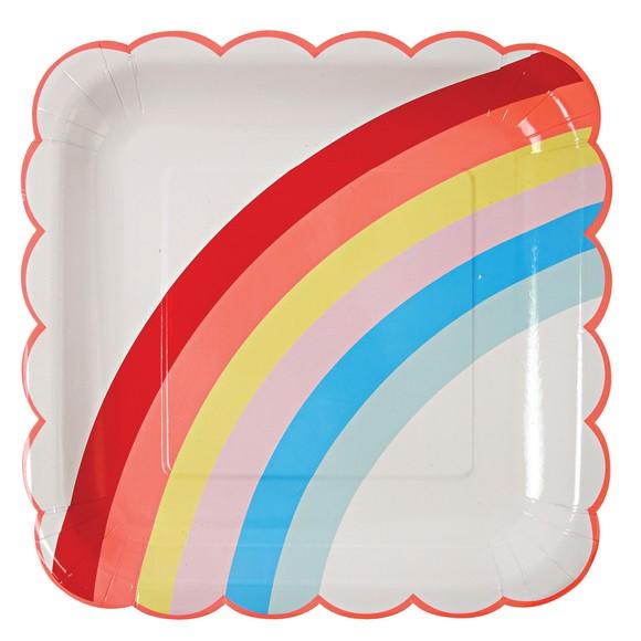 Achat en ligne 12 assiettes arc en ciel 22.9cm