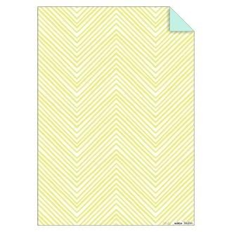 MERI MERI - Feuille de papier chevrons jaune fluos 50x70cm