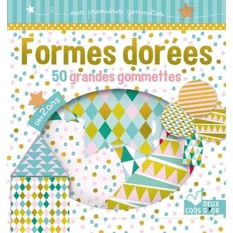 HACHETTE - Formes dorées 50 grandes gommettes
