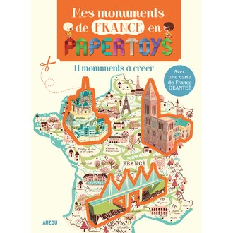 Kit Mes monuments de France en papertoys