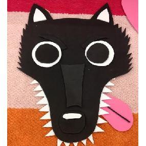 Mon masque de loup en mousse