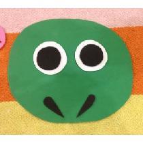 Mon masque de grenouille en mousse
