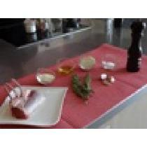 Carré d'agneau en croûte d'amandes et ses légumes facon couscous