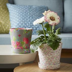 Mon cache pot de fleurs recouvert