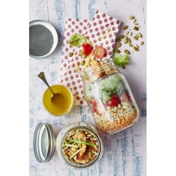 Salade d'été en bocal