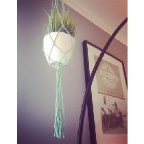 Suspension de pot style macramé