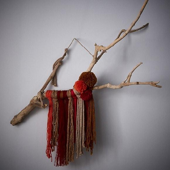 Achat en ligne Ma suspension en laine sur branche