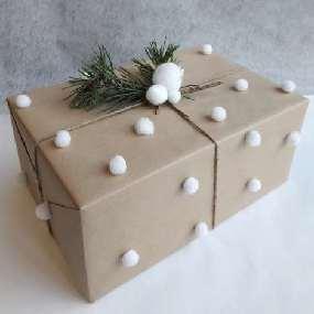 Mon paquet cadeau pompons