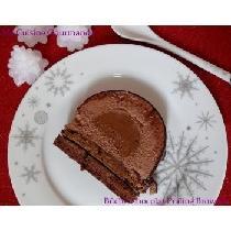 Bûche chocolat praliné brownie