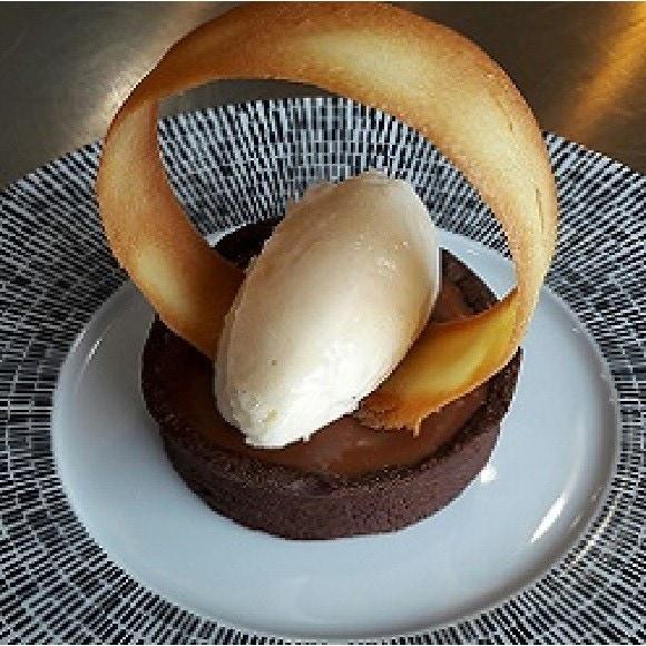 Tartelette chocolat, caramel mousseux