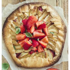 Tarte rustique pommes-fraises