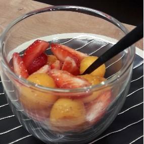 Verrine fraise melon feve de tonka