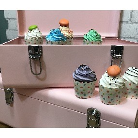 Cup cakes made in amérique.