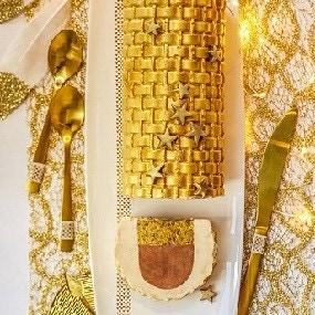 Bûche dorée ultra légère chocolat & caramel