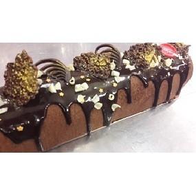 BÛche chocolat,feves de tonka