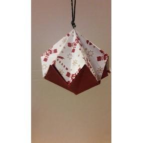 Boules de noël en origami