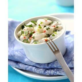 Céviche de poisson au lait de coco et citron vert et riz trois grain façon risotto