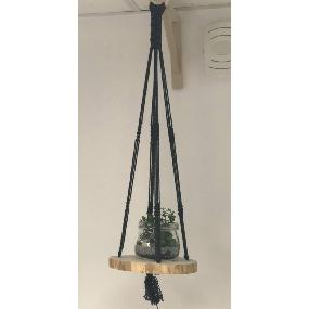 Ma suspension rondin de bois et macramé