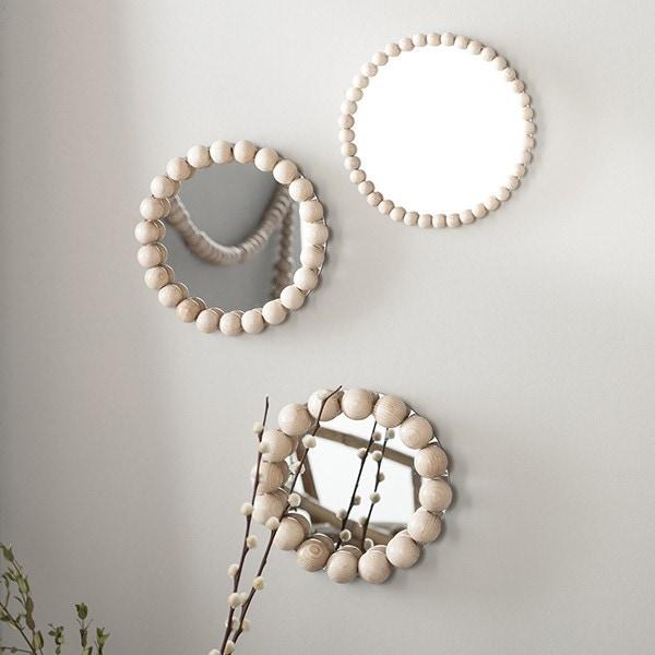 Mes miroirs perles en bois