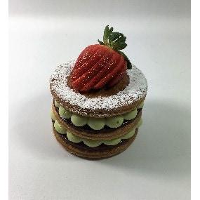 Millefeuille pistache-fraise