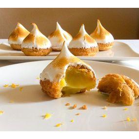 Petits choux au citron meringués
