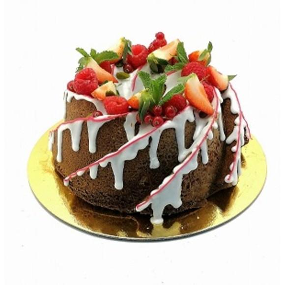 Bundt cake framboises/pistache