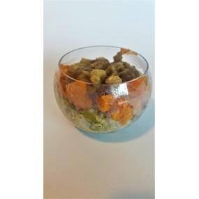 Bulle quinoa, patate douce et aubergines rotie