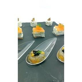 Tartare gambas/mangue, caviar de vinaigre balsamique