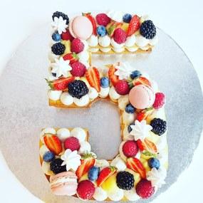 Number cake fruit rouge et cremeux citron