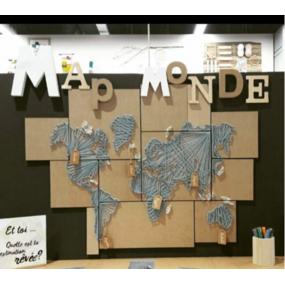 Ma map monde en string art!