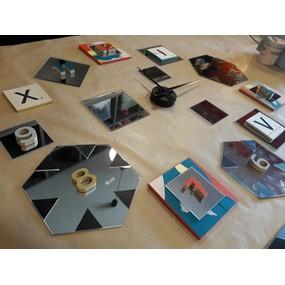 Horloge miroir thème paper cut