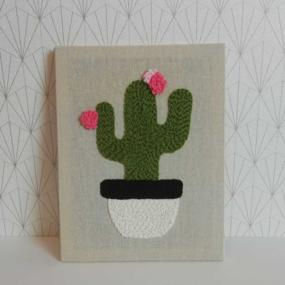 Mon cactus en punch needle