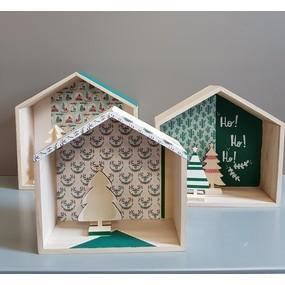 Customisation de 3 jolies maisons pour noël