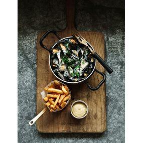 Moules frites façon marinière