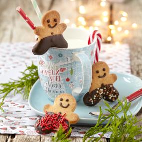 Biscuits bonhommes de Noël en pain d'épices