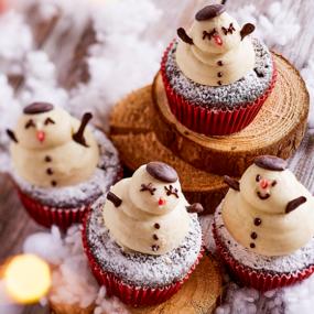 Cupcakes des neiges