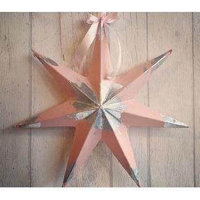 Mon étoile en feuille d'argent