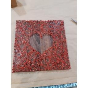 Coeur en string art