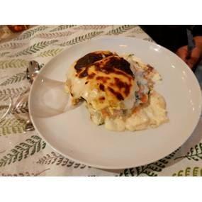 Lasagne chèvre épinard saumon