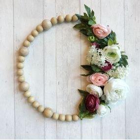 Mon cercle à perles et fleurs.