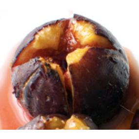 Figue roti, emulsion mascarpone et crumble nougatine