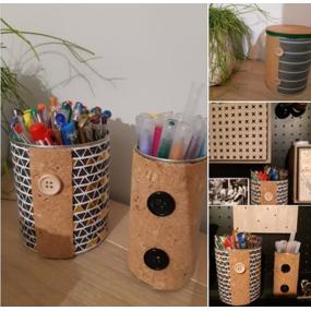 Pot à crayons (boîte de conserve recyclée)