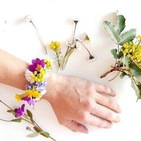 Tutoriel diy facile bracelet en fleurs du jardin